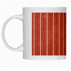Line Vertical Orange White Mugs