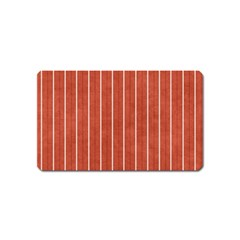 Line Vertical Orange Magnet (name Card)