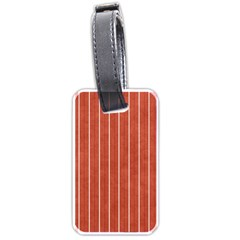 Line Vertical Orange Luggage Tags (one Side)