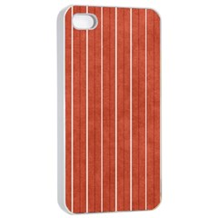 Line Vertical Orange Apple Iphone 4/4s Seamless Case (white)