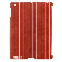 Line Vertical Orange Apple Ipad 3/4 Hardshell Case (compatible With Smart Cover)