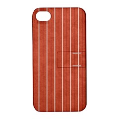 Line Vertical Orange Apple Iphone 4/4s Hardshell Case With Stand