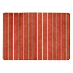 Line Vertical Orange Samsung Galaxy Tab 10 1  P7500 Flip Case