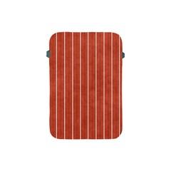 Line Vertical Orange Apple Ipad Mini Protective Soft Cases