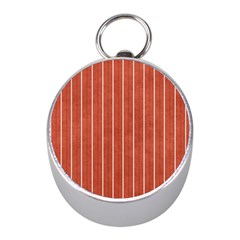 Line Vertical Orange Mini Silver Compasses