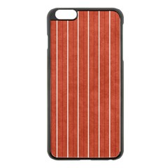 Line Vertical Orange Apple Iphone 6 Plus/6s Plus Black Enamel Case