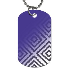 Plaid Blue White Dog Tag (two Sides)