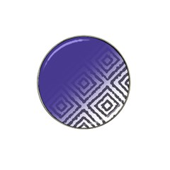 Plaid Blue White Hat Clip Ball Marker