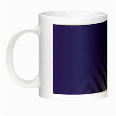 Plaid Blue White Night Luminous Mugs