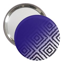 Plaid Blue White 3  Handbag Mirrors