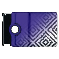 Plaid Blue White Apple Ipad 3/4 Flip 360 Case