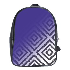 Plaid Blue White School Bag (xl)