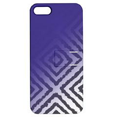 Plaid Blue White Apple Iphone 5 Hardshell Case With Stand