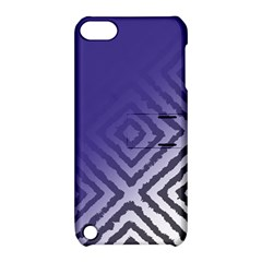 Plaid Blue White Apple Ipod Touch 5 Hardshell Case With Stand