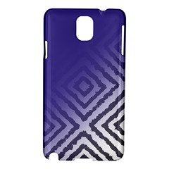 Plaid Blue White Samsung Galaxy Note 3 N9005 Hardshell Case