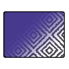 Plaid Blue White Double Sided Fleece Blanket (small)