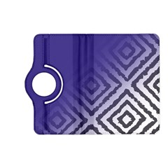 Plaid Blue White Kindle Fire Hd (2013) Flip 360 Case