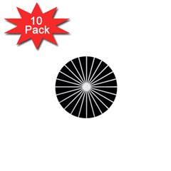 Ray White Black Line Space 1  Mini Magnet (10 Pack)