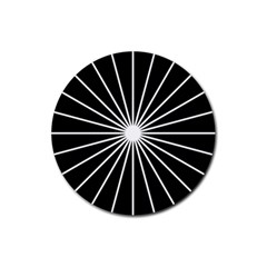 Ray White Black Line Space Rubber Coaster (round)