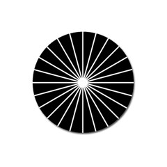 Ray White Black Line Space Magnet 3  (round)