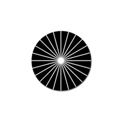 Ray White Black Line Space Golf Ball Marker (10 Pack)