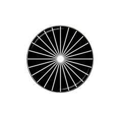 Ray White Black Line Space Hat Clip Ball Marker (4 Pack)