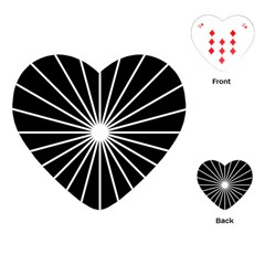 Ray White Black Line Space Playing Cards (heart)
