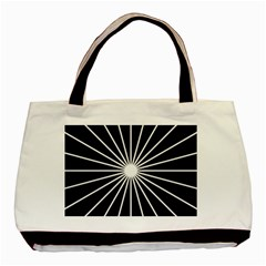 Ray White Black Line Space Basic Tote Bag (two Sides)