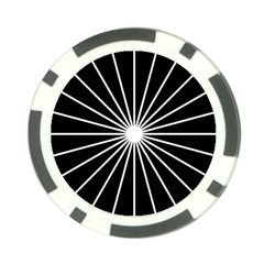 Ray White Black Line Space Poker Chip Card Guard