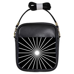 Ray White Black Line Space Girls Sling Bags