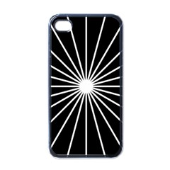 Ray White Black Line Space Apple Iphone 4 Case (black)