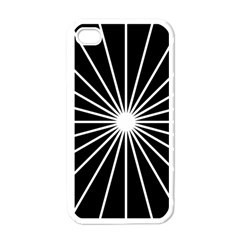 Ray White Black Line Space Apple Iphone 4 Case (white)