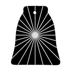 Ray White Black Line Space Bell Ornament (two Sides)