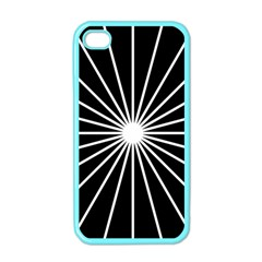 Ray White Black Line Space Apple Iphone 4 Case (color)
