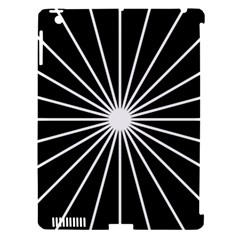 Ray White Black Line Space Apple Ipad 3/4 Hardshell Case (compatible With Smart Cover)