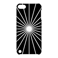 Ray White Black Line Space Apple Ipod Touch 5 Hardshell Case With Stand
