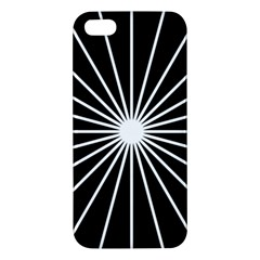 Ray White Black Line Space Apple Iphone 5 Premium Hardshell Case