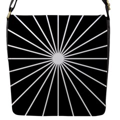 Ray White Black Line Space Flap Messenger Bag (s)
