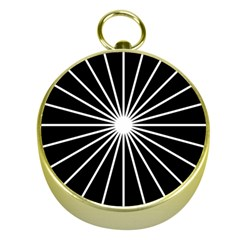 Ray White Black Line Space Gold Compasses