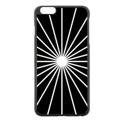 Ray White Black Line Space Apple Iphone 6 Plus/6s Plus Black Enamel Case