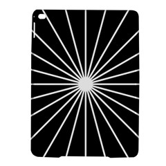 Ray White Black Line Space Ipad Air 2 Hardshell Cases