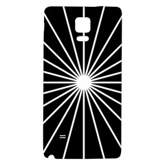 Ray White Black Line Space Galaxy Note 4 Back Case