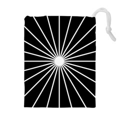 Ray White Black Line Space Drawstring Pouches (extra Large)