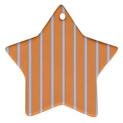Rayures Bleu Orange Ornament (star)