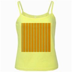 Rayures Bleu Orange Yellow Spaghetti Tank
