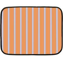 Rayures Bleu Orange Double Sided Fleece Blanket (mini)