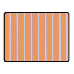 Rayures Bleu Orange Fleece Blanket (small)