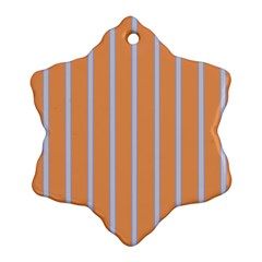 Rayures Bleu Orange Ornament (snowflake)