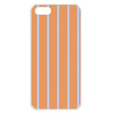Rayures Bleu Orange Apple Iphone 5 Seamless Case (white)