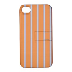 Rayures Bleu Orange Apple Iphone 4/4s Hardshell Case With Stand